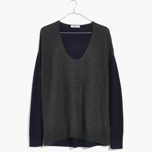 Madewell pullover sweater colorblock xl